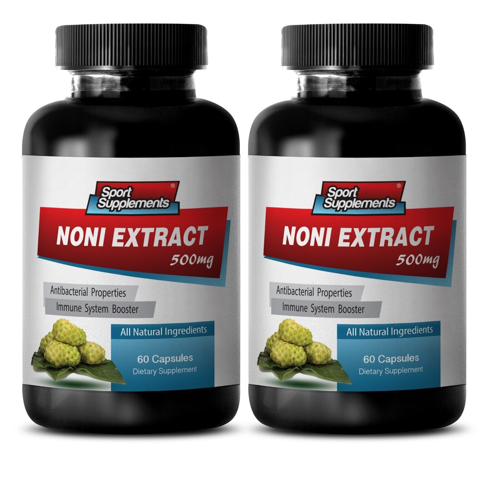 Noni Capsules - Noni Extract (8:1 Concentrate) 500mg - Immune System Health 2b