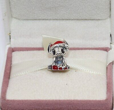 AUTHENIC PANDORA Disney Stitch Christmas, 798452C01    #1859