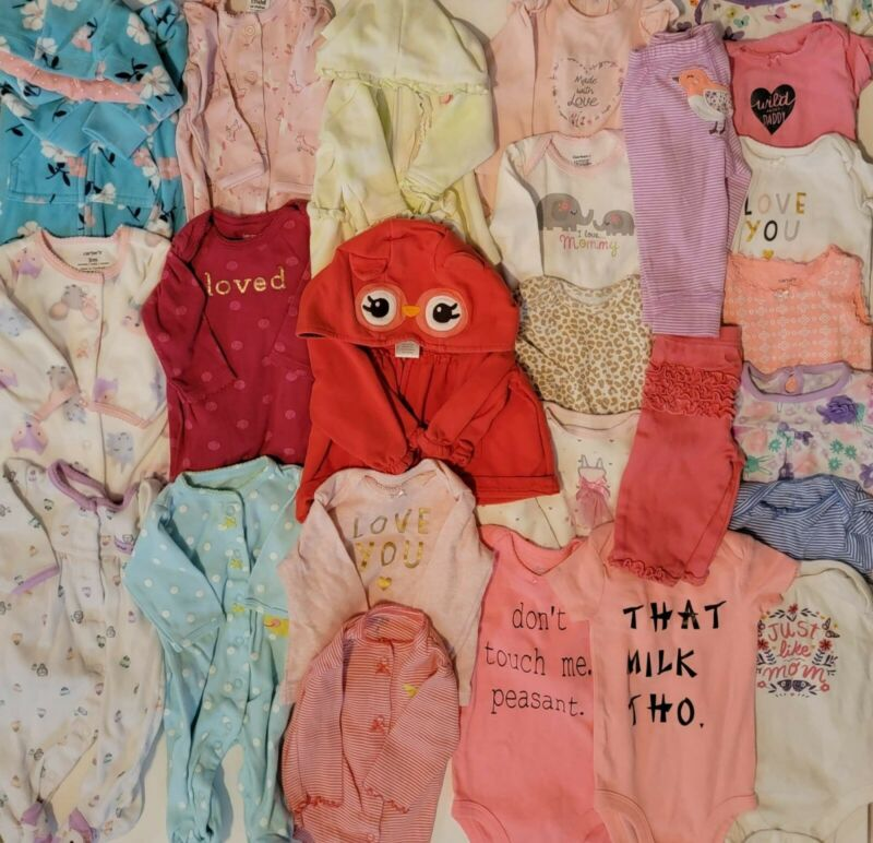 3-6 Month Baby Girl Clothes Lot Of 25 Pieces (gently Used)