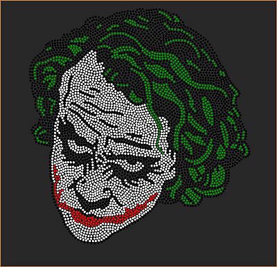 Joker Rhinestone - THE JOKER Inspired Fan Art Rhinestone Iron On Transfer Hot Fix Bling
