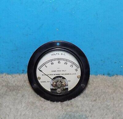 Weston Model 301 Volts Panel Meter 0-30v 3.25 Free Shipping
