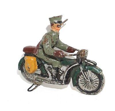 LINEOL Soldat Auf Motorrad Wehrmacht Figur Massefigur Soldat Elastolin Lineol ?? gebraucht kaufen  Rodewisch