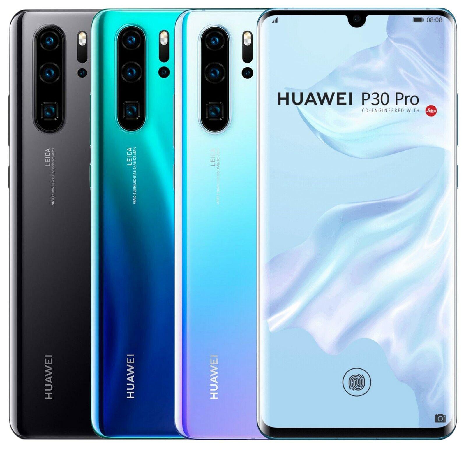 "Huawei P30 Pro 128GB HW-02L (FACTORY UNLOCKED) 6.47"" 6GB RAM 40MP"
