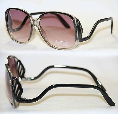 Boho Sonnenbrille Hippie Fächer Farbverlauf schwarz Damen Vintage Shades 460