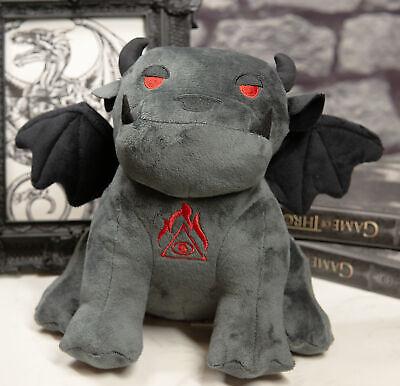 Ebros Winged Demonic Bulldog Gargoyle Chimera Eye of Horus Luxe Soft Plush Toy