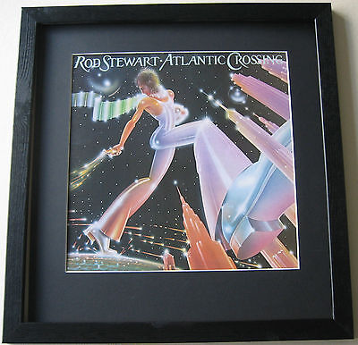 ROD STEWART Atlantic Crossing FRAMED ALBUM COVER