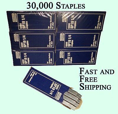 Stanley Bostitch Genuine Staples 14 Sp19 Galvanized 30000 Used With P3 Stapler