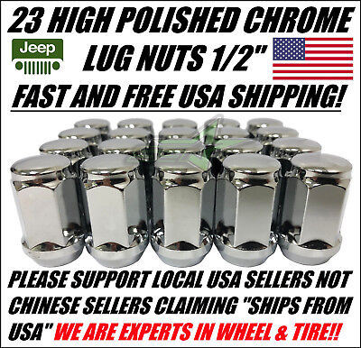 "23 JEEP LUG NUTS | BULGE ACORN LUGS | 1/2""-20 CLOSED END 