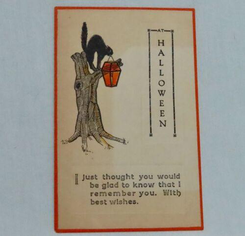 Vintage Fairman 402 Halloween Postcard - 80931