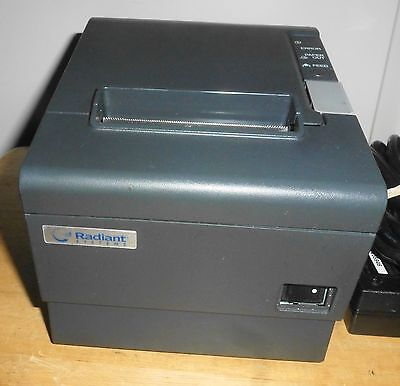 Epson Radiant Thermal Receipt Printer Model Tm-t88iv M129h Pos - Serial Port