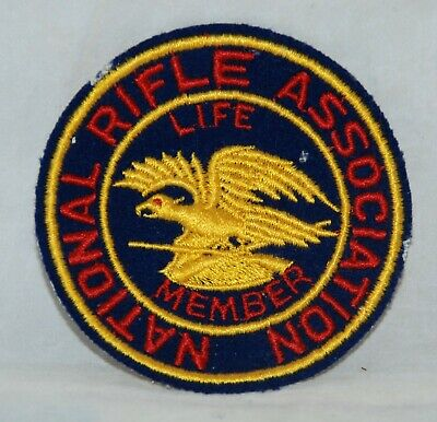 PISTOL LEAGUE IRON//SEW ON PATCHES NRA 2 VINTAGE NATIONAL RIFLE ASSOCIATION