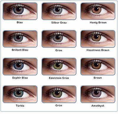 Weiche farbige 3 Ton Kontaktlinsen ohne Stärke Halloween Fasching Party (Farbige Halloween Kontaktlinsen)