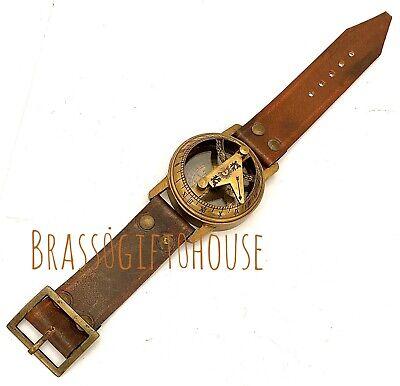 Vintage WRIST WATCH Type Sundial - STEAMPUNK  BRASS SUNDIAL COMPASS TIMEPIECE