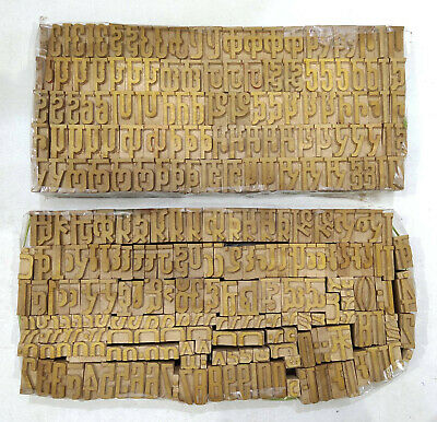 Hindi Devanagari Script Letterpress Wooden Printing Type Typography 276pc Dm29