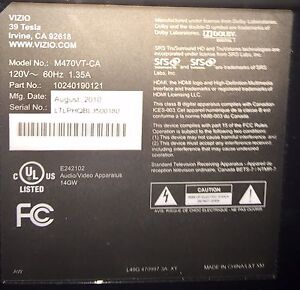 """51"""" Vizio Tv for sale with mounted stand"""