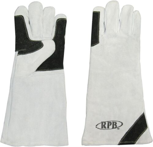 Leather Sandblasting / Welding Gloves, Luxury Double Palmed, One Pair.