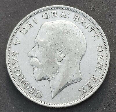 United Kingdom, Half Crown, George V (2nd Type), 1924, Silver Coin (S-780)