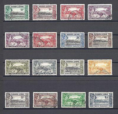 SIERRA LEONE 1938-44 SG 188/200 USED Cat £80