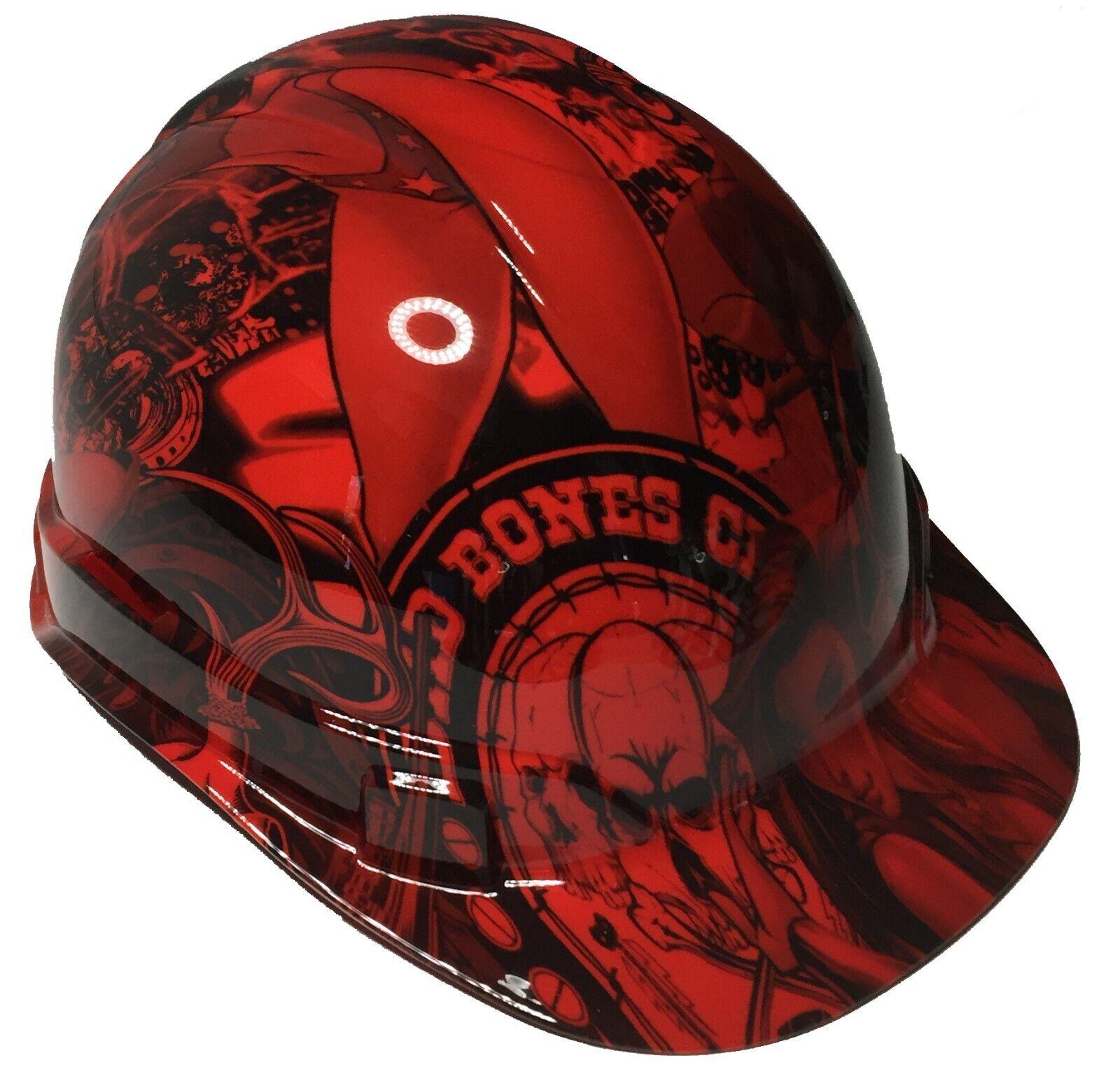 Hydro Dipped Hard Hat Ridgeline Cap Style Custom Red Wonder