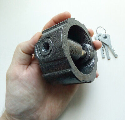 High Security No Shackle Round Large Padlock Shackless Puck Lock Truck Vans