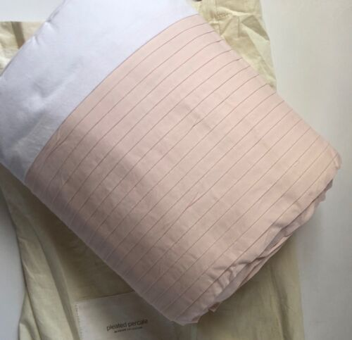 Restoration Hardware Baby & Child FULL Duvet(only), Pleated Percale, Petal