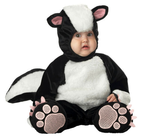 Lil Stinker Costume Halloween Skunk Plush Toddler SIZE 12-18 months