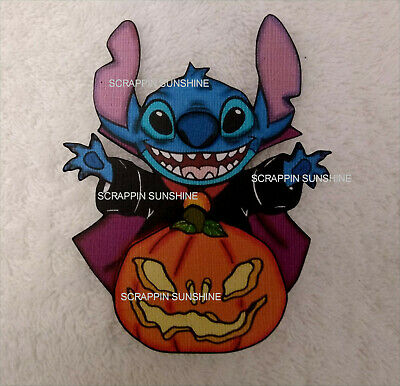 DISNEY Halloween Stitch with Pumpkin Printed Paper Piece for Scrapbook Pages