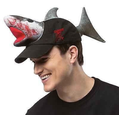 SHARKNADO MOVIE SHARK HAT BALL CAP FUNNY BEACH PARTY COSTUME GC3694
