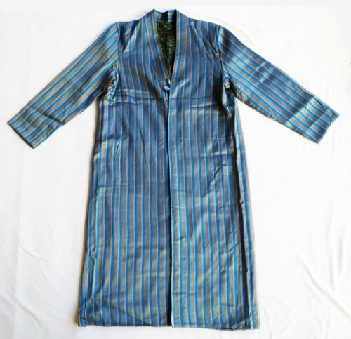 Beautiful Antique Uzbek Silk Bekasam Vintage Chapan Robe Dress SALE WAS $165.00