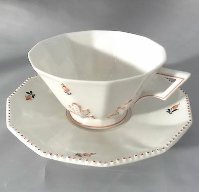 "Kaffeetasse Untertasse Teetasse Ø 10 cm NYMPHENBURG /"" Perl /"" orange"