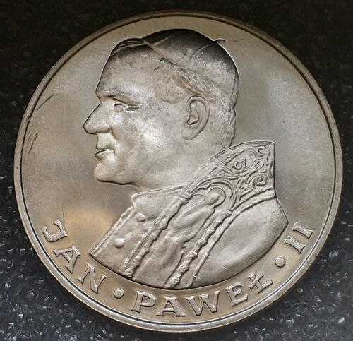 "1982 POLAND 🇵🇱 SILVER 1000 ZLOTY, ""IOANNES PAULUS II"" Proof, RARE 3,750 minted"