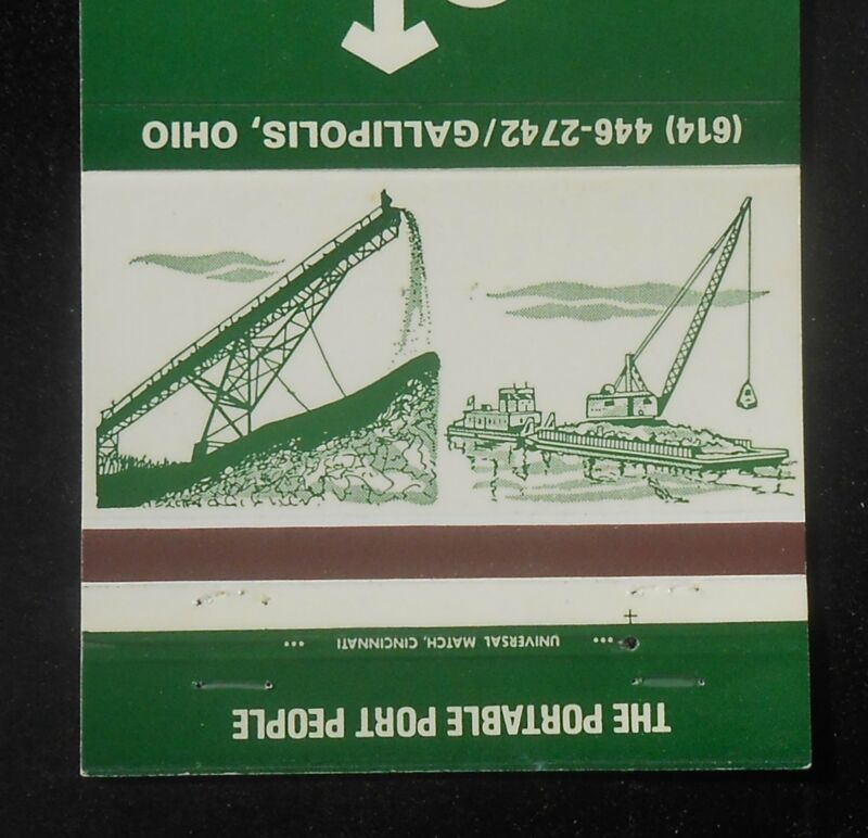 1970s M. T. Epling Company The Portable Port People Barge Crane Gallipolis OH MB