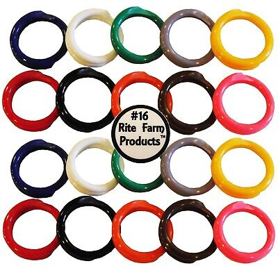 20 Multi Colored 16 Leg Bands 1 Chicken Poultry Turkey Quail Duck Goose Pigeon