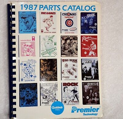 1987 Premier Technology Pinball machine Parts Catalog Gottlieb Arcade