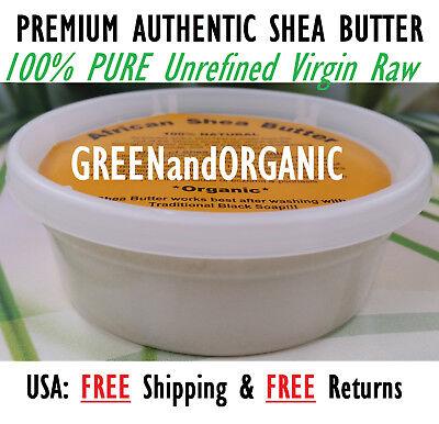 Organic Raw Shea Butter (Raw African Shea Butter Organic 100% Pure Unrefined Virgin Ghana Skin Body Face)