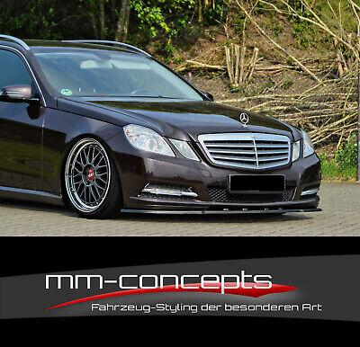 CUP Spoilerlippe für Mercedes E-Klasse W212 C207 A207 S212 Frontspoiler Schwert