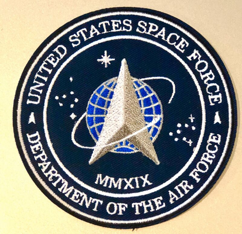 "US SPACE FORCE PATCH 3.5"" Iron On USA Military Department Of The Air Force NEW!!"