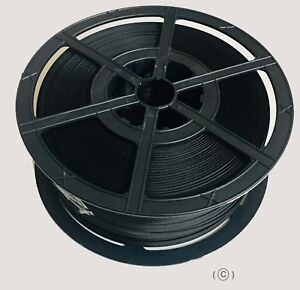 3d89ba043c2 1000 M 12 MM BLACK POLYPROPYLENE STRAPPING BANDING STRONG PLASTIC CORE