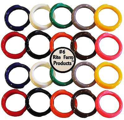 20 Multi Colored 6 Leg Bands 38 Chicken Poultry Chick Quail Pigeon Duck Goose
