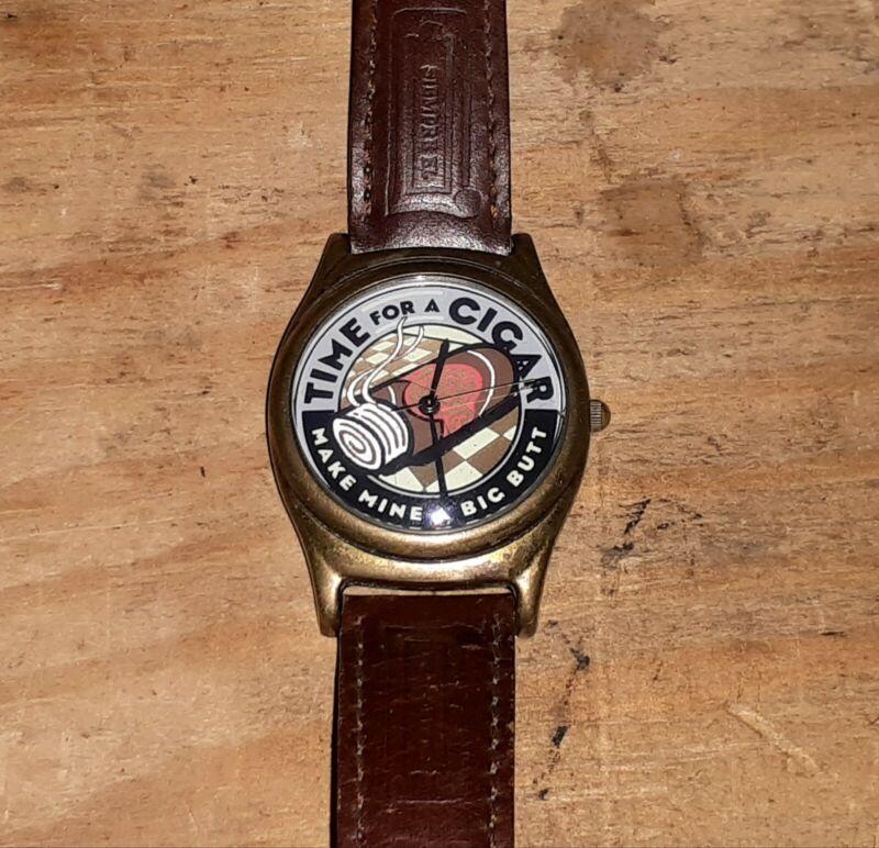 Make Mine A Big Butt Cigar Co. Advertising Quartz Watch Collector
