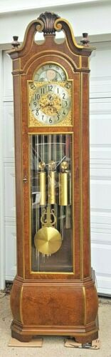 HERSCHEDE 9 TUBE/TUBULAR GRANDFATHER CLOCK, MODEL 250, THE CLOCK, C-1970s