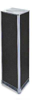 Styrene Pegboard Square Tower Display In Black 16w X 60h Inches With Metal Base