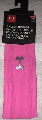 20bf681a172 Under Armour UA 1 Headband Youth Girls Headband Pink One Size Fit Most  Youth NEW