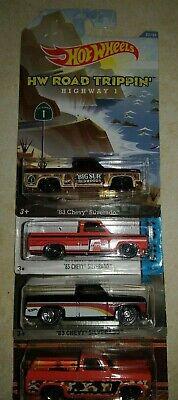 Hot Wheels '83 Chevy Silverado /HW Road Trippin' & more - lot of 4