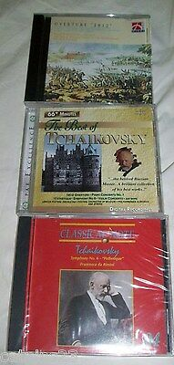 Lot 3 Classical MUSIC CD TCHAIKOVSKY Symph No 6 Sealed Best Of & OVERTURE 1812