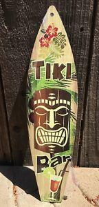 Tiki Bar Mask Mini Novelty Beach Surf Board Sign 17