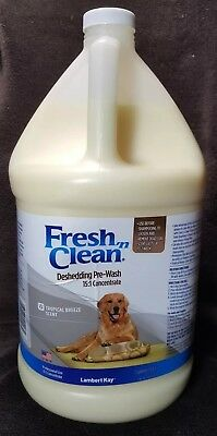 Fresh N Clean Deshedding Pre-Wash 15:1 Concentrate~1 Gallon~Tropical Breeze~Dogs