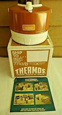 Vintage 1 Gallon Thermos Picnic Jug Original Box And Flier 7743/22