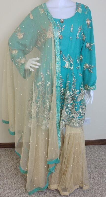 Pakistani Indian Designer Party Wear gharara XL 48 Inch