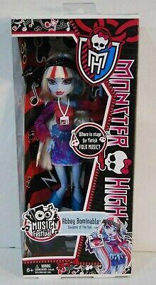 NEW IN BOX Monster High Abbey Bominable Music Festival Doll Toy Gift Mattel ](Music Festival Toys)